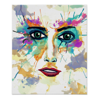 Watercolor Portrait Poster