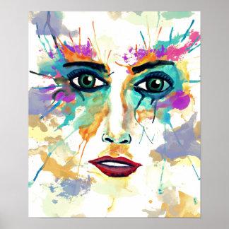 Watercolor Portrait Poster