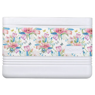 Watercolor Posies Cooler