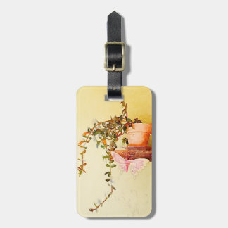 Watercolor Potted Plant and Butterfly Bag Tags