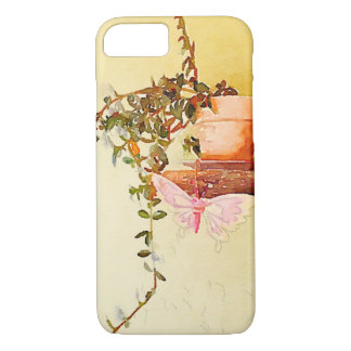 Watercolor Potted Plant and Butterfly iPhone 7 Case