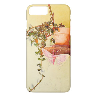 Watercolor Potted Plant and Butterfly iPhone 7 Plus Case