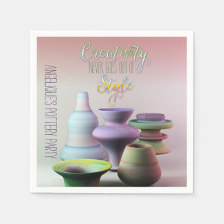 Watercolor Pottery Creativity Never Goes Out Style Disposable Napkins