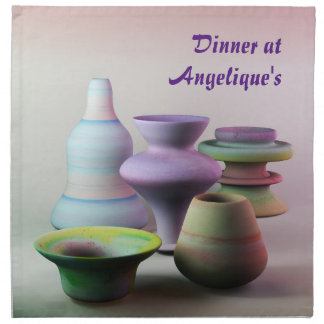 Watercolor Pottery Creativity Never Goes Out Style Napkin