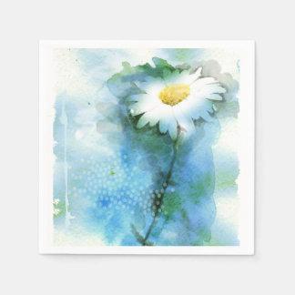 Watercolor Pretty Daisy - All Options Disposable Serviette