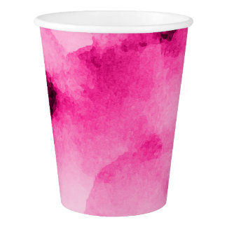 Watercolor Pretty Pinks3 - All Options Paper Cup