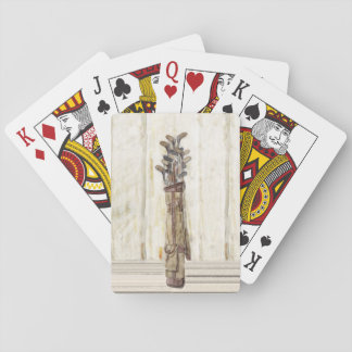 Watercolor Print Golf Clubs, Playing Cards