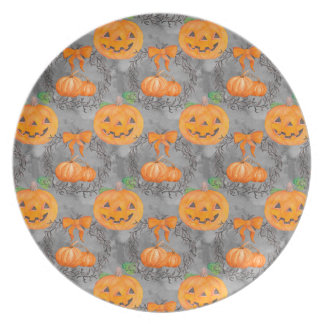 Watercolor Pumpkin Pattern Plate