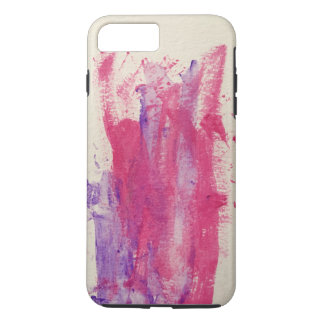 Watercolor purple and dark pink iPhone 8 plus/7 plus case