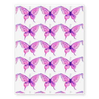 Watercolor purple butterfly temporary tattoo