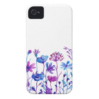 Watercolor Purple Field Flowers iPhone 4 Case