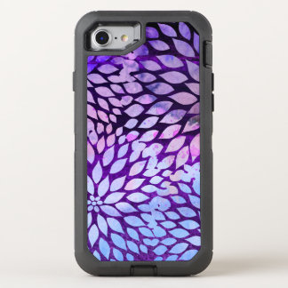 Watercolor Purple Flower Blossom OtterBox Defender iPhone 8/7 Case