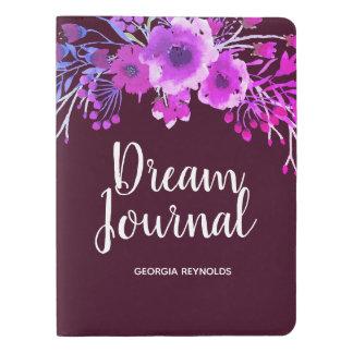 Watercolor Purple Flower Wreath Dream Journal