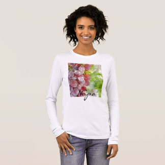 Watercolor Purple Grapes from Napa Valley. Long Sleeve T-Shirt