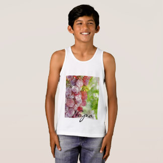 Watercolor Purple Grapes from Napa Valley. Singlet