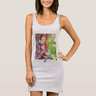 Watercolor Purple Grapes from Napa Valley. Sleeveless Dress