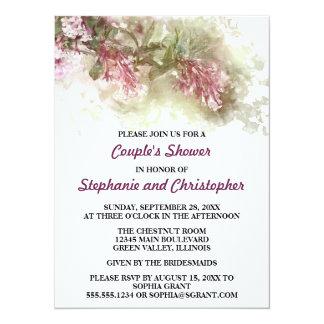 Watercolor Purple Jasmine Wedding Couple's Shower 14 Cm X 19 Cm Invitation Card
