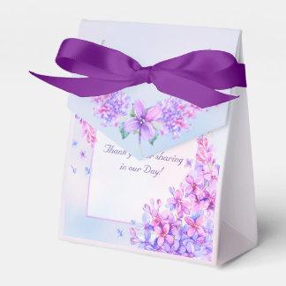 Watercolor Purple Lilac Flower Favour Box