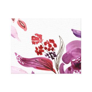 Watercolor Purple + Pink Floral Canvas Print