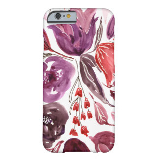 Watercolor Purple + Pink Floral iPhone 6/6s Case