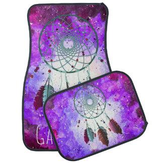Watercolor Purple Space Nebula Teal Dream Catcher Car Mat
