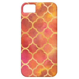 Watercolor Quatrefoil Barely There iPhone 5 Case