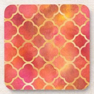 Watercolor Quatrefoil Coaster