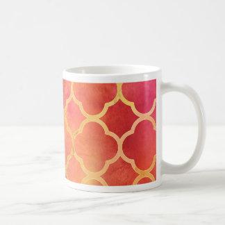 Watercolor Quatrefoil Coffee Mug