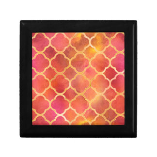 Watercolor Quatrefoil Gift Box