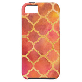 Watercolor Quatrefoil iPhone 5 Cases