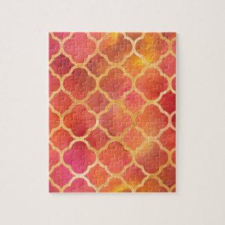 Watercolor Quatrefoil Jigsaw Puzzle