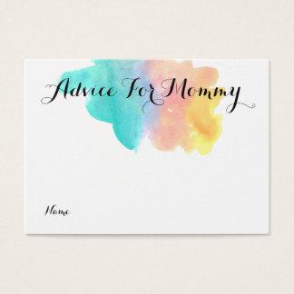 Watercolor rainbow advice for mommy card