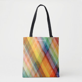 Watercolor Rainbow All-Over-Print Tote Bag