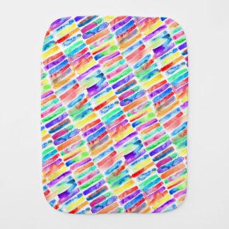 Watercolor Rainbow Burp Cloth