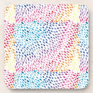 Watercolor Rainbow Coaster