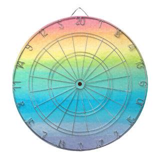 Watercolor Rainbow Design Dartboard