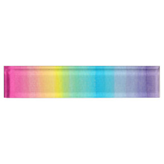 Watercolor Rainbow Design Name Plate