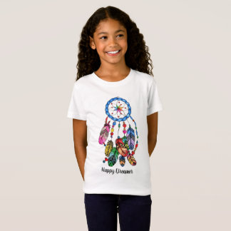 Watercolor rainbow dream catcher & inspiring words T-Shirt