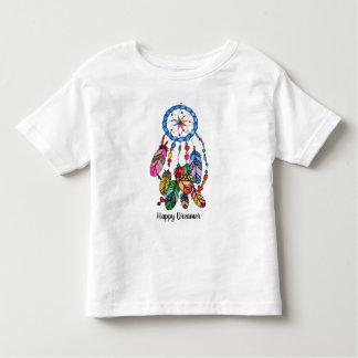Watercolor rainbow dream catcher & inspiring words toddler T-Shirt