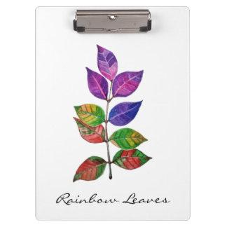 Watercolor Rainbow Leaves Clipboard