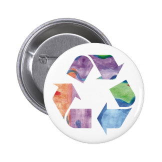Watercolor Rainbow Recycle Button ac