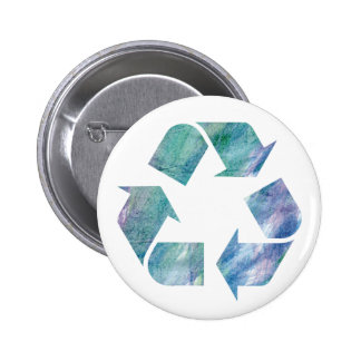 Watercolor Rainbow Recycle Button jc