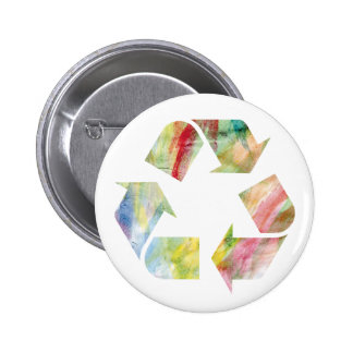 Watercolor Rainbow Recycle Button mp