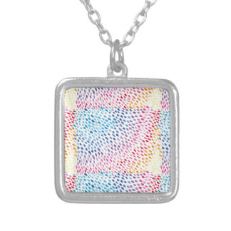 Watercolor Rainbow Silver Plated Necklace