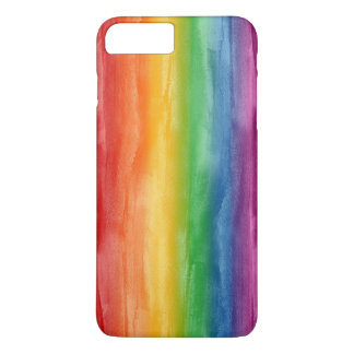 Watercolor Rainbow Stripes iPhone 7 Plus Case