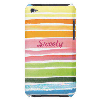 watercolor rainbow stripes  iPod Touch Case-Mate Barely There iPod Cover