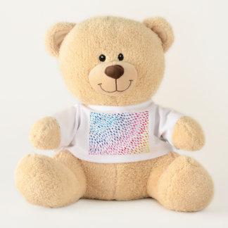 Watercolor Rainbow Teddy Bear