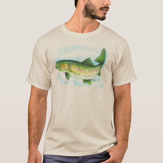 Watercolor Rainbow Trout Shirt