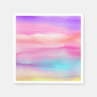 Watercolor Rainbows - All Options Disposable Serviette