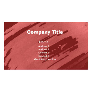 Watercolor Red Business Cards